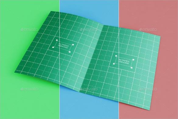fantastic half fold brochure template