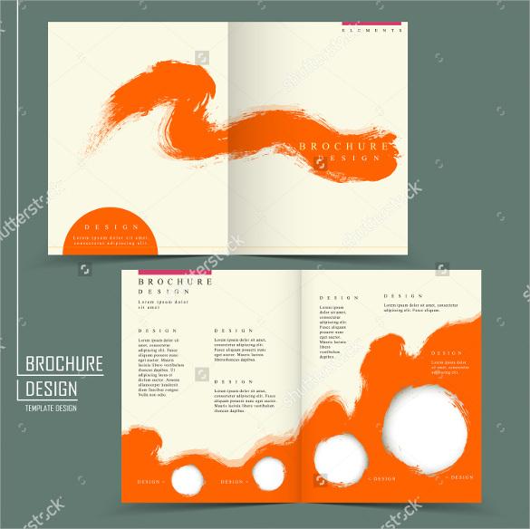 26 half fold brochures sample templates