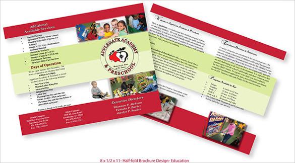 fabalous half fold brochure template