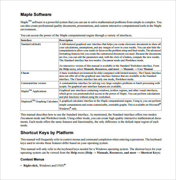 Sample User Manual Template   Documents In Pdf