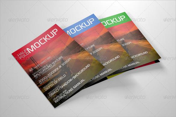 extra ordinary half fold brochure