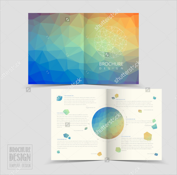 attractive brochure designs - 26 half fold brochures 25 psd vector eps