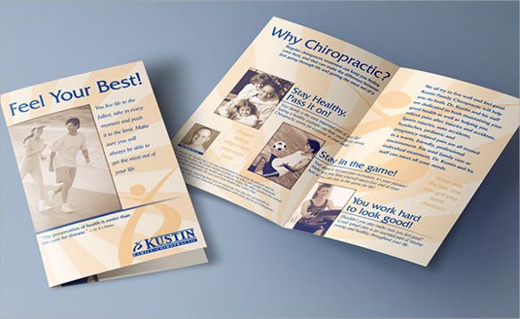 wonderful half fold brochure template