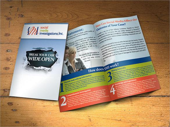 adorable half fold brochure template