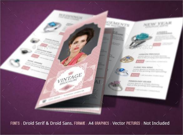dazzling jewelry design brochure