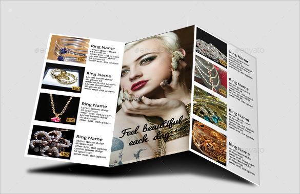 cute jewelry design brochure