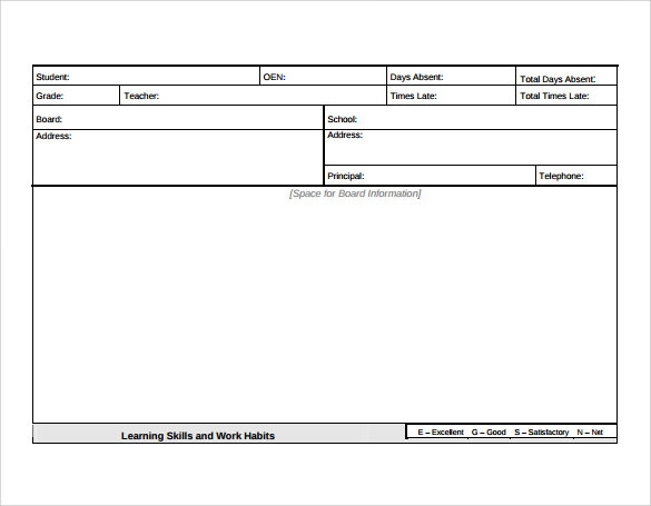 Sample Progress Report Card Template - 11+ Free Documents In Pdf, Word