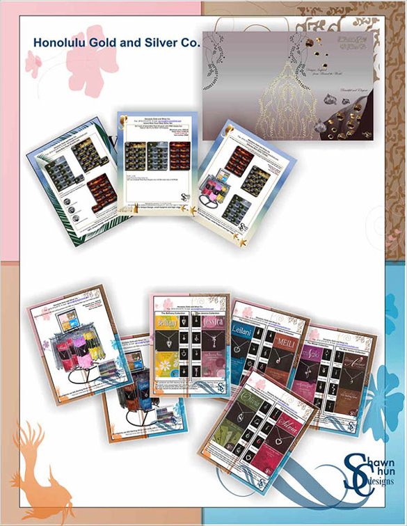 simple jewelry brochure template