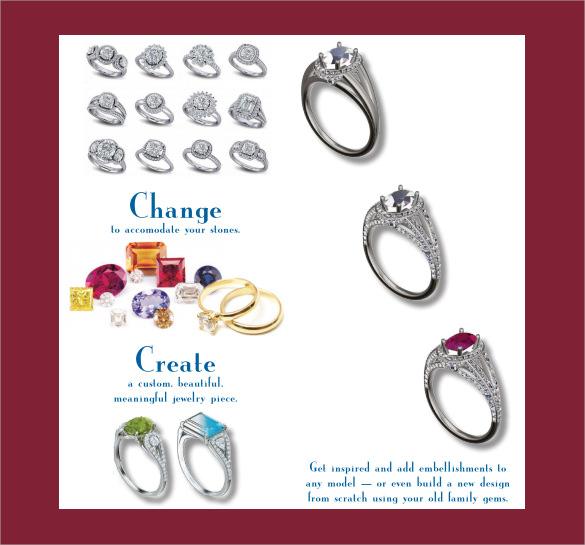 excellent jewelry design brochure