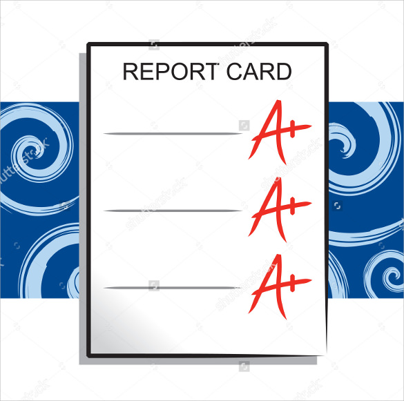 Sample Progress Report Card Template 11 Free Documents