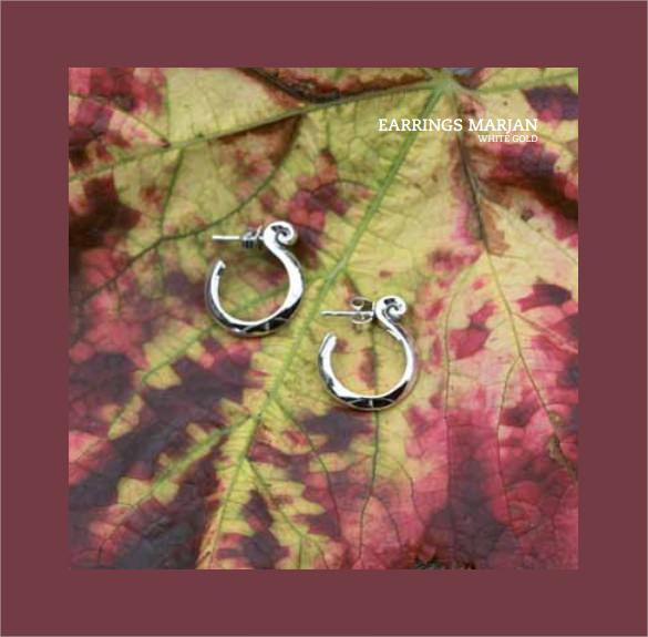 admiring jewelry design brochure