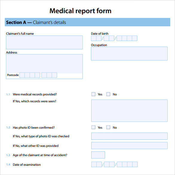 Sample Medical Report Template 14 Free Documents in PDF Word – Report Template Free