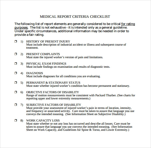 Sample Medical Report Template   Free Documents In Pdf Word