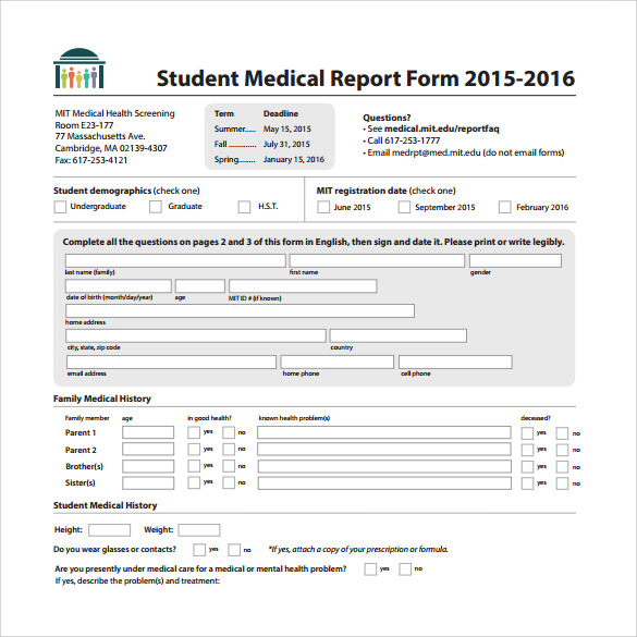 Sample Medical Report Template 14 Free Documents in PDF Word – IT Report Template