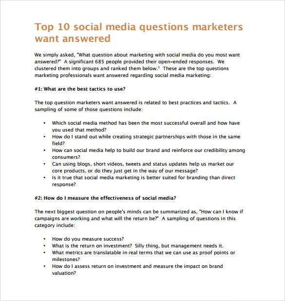 marketing report template format