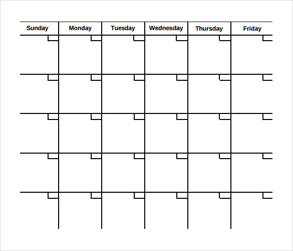 Sample Calendar Month Marketing Plan Template Month Marketing Plan