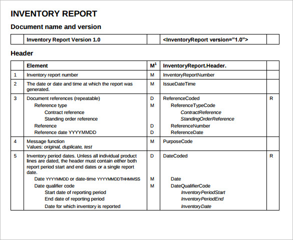Sample Inventory Report   Documents In Pdf