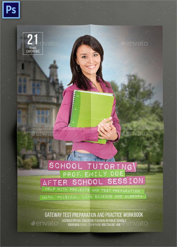 best tutoring flyer template