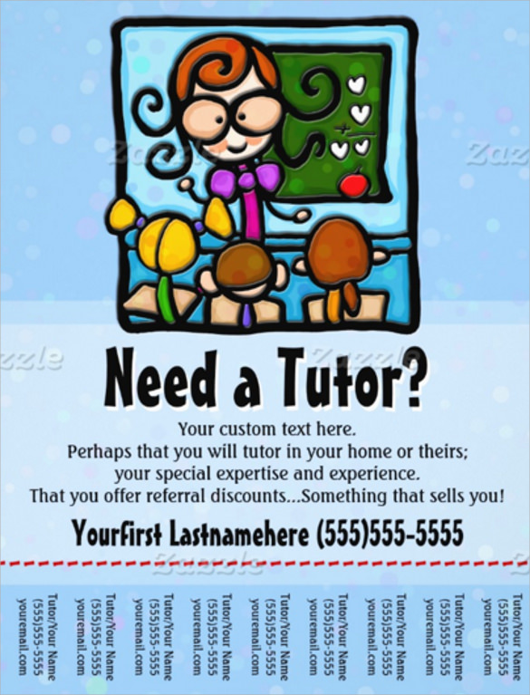 best tutoring flyer template