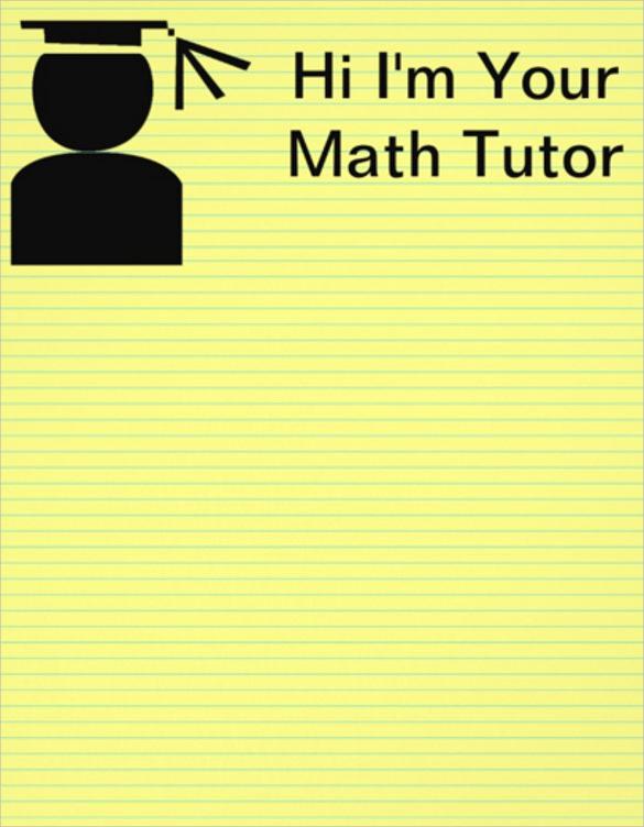 elegant tutoring flyer