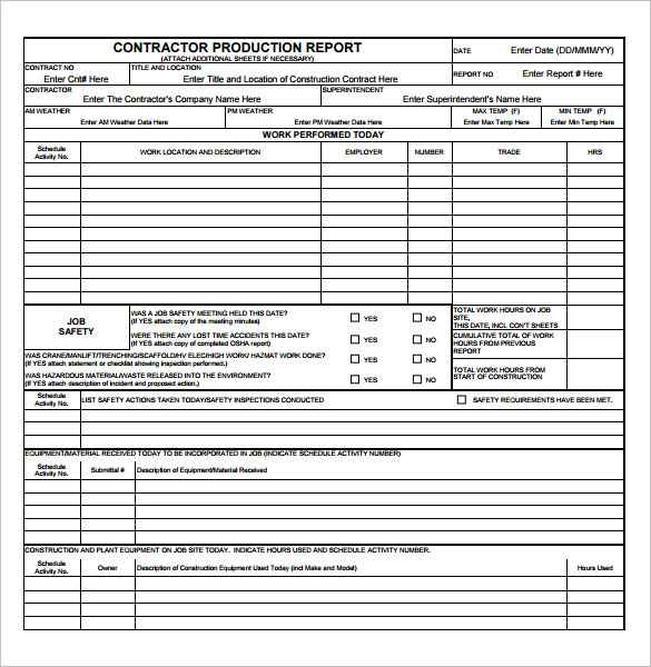 Sample Production Report Template - 13+ Free Documents In Pdf