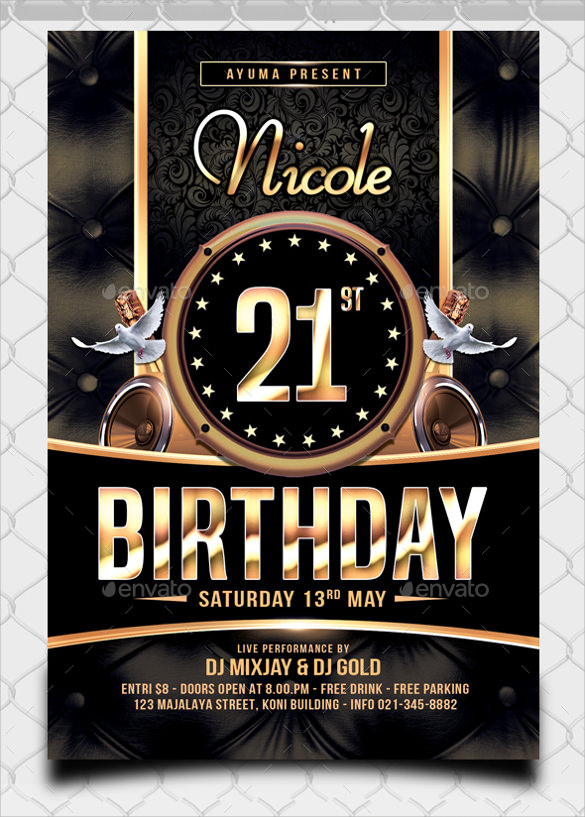 25  spectacular birthday flyers templates