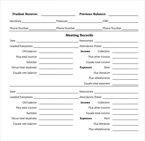 13 sample treasurer reports sample templates