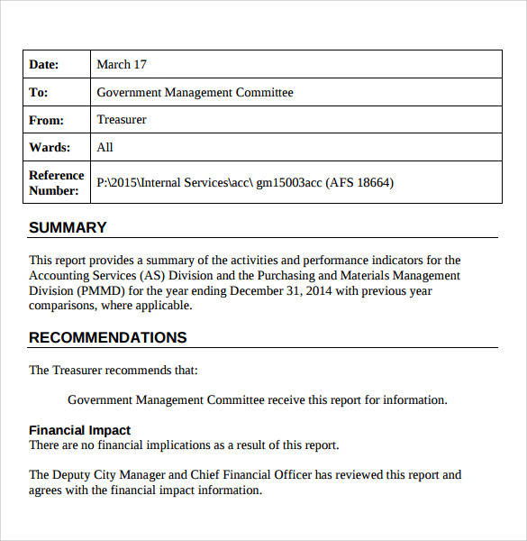 simple treasurer report template