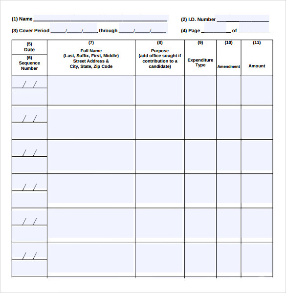 Treasurer Report Template  KakTakTk