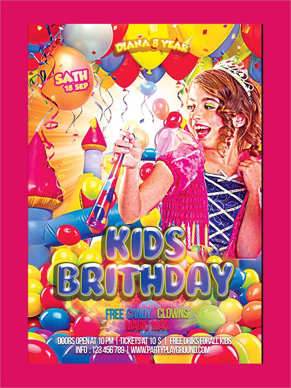 spectacular birthday flyers template
