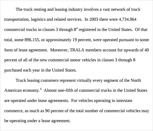 Sample Truck Leasing   Documents In Pdf Word