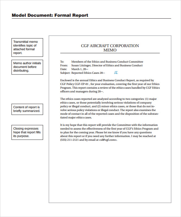 Template Formal Business Report