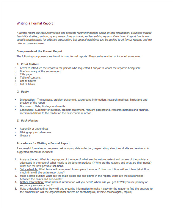 Formal Report Format Pictures to Pin PinsDaddy – Formal Reports Samples
