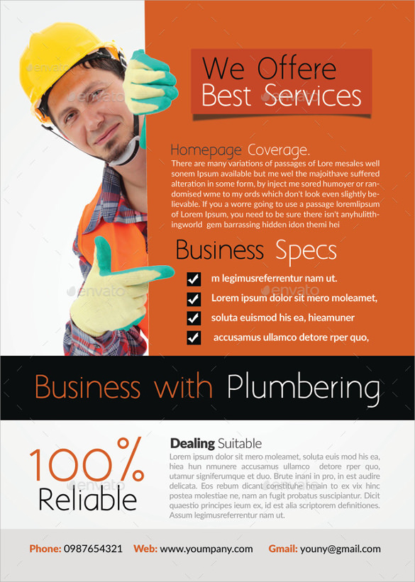 free 26  beautiful handyman flyer templates in eps