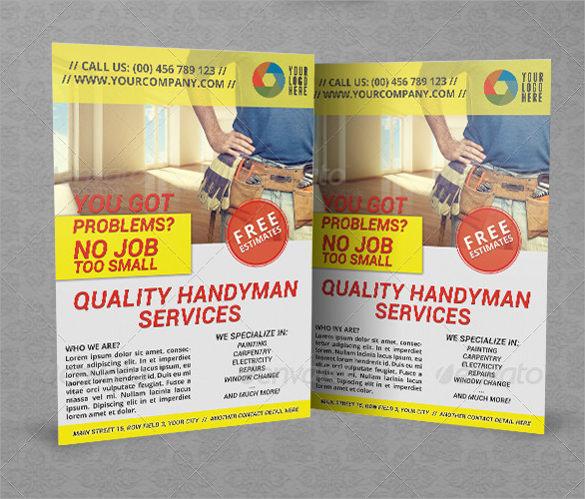 beautiful handyman flyer templates