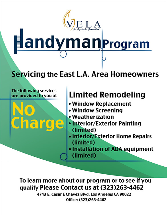Handyman Flyer Template  Best Handyman Flyer Templates Designs