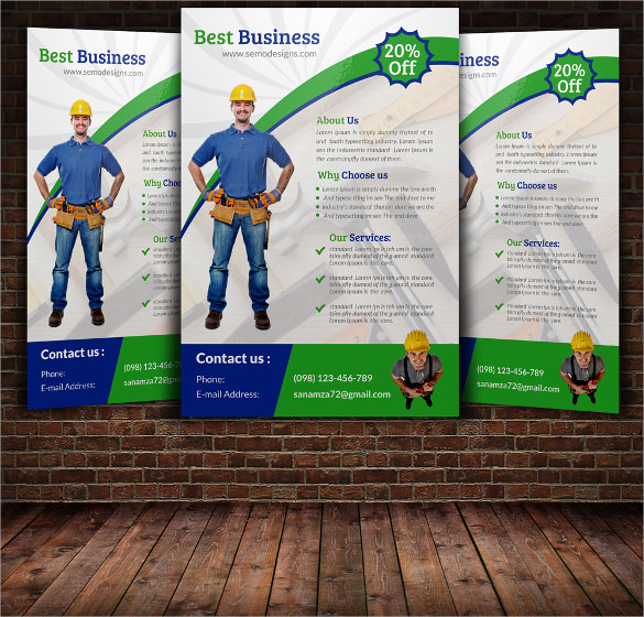 beautiful handyman flyer templates