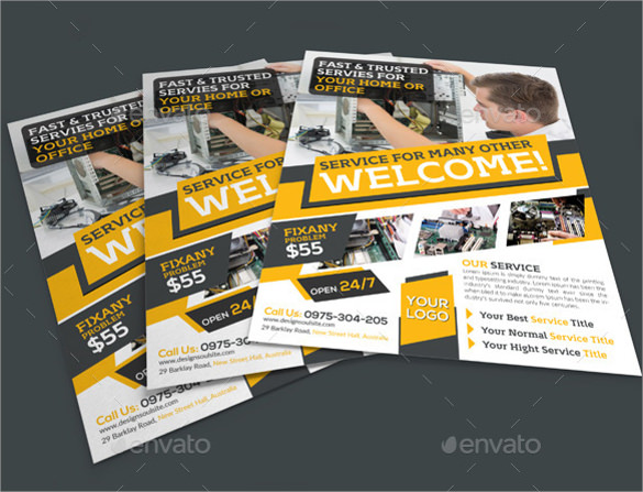 Computer Repair Flyer Template - 25+ Download Documents In Vector