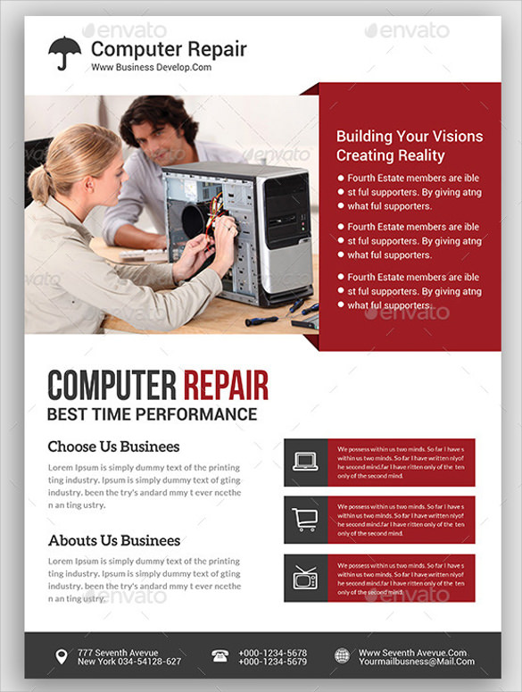 good computer repair flyer