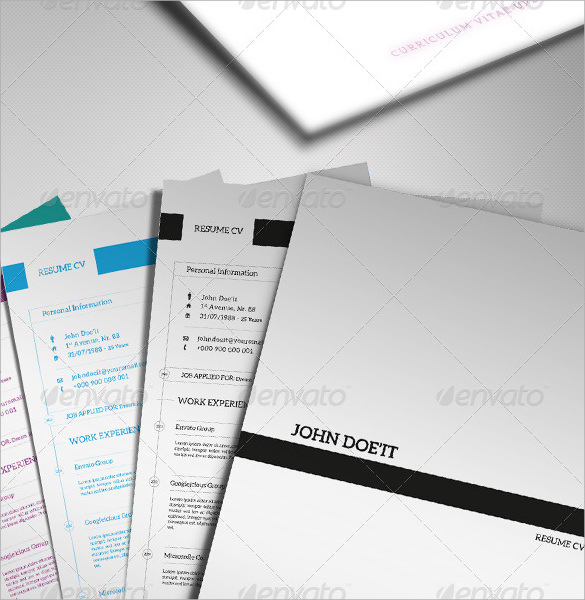 resume cover pages   psd  vector eps  pdfresume cover page
