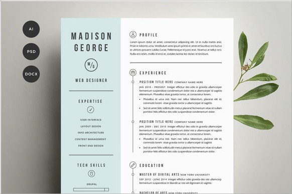 14 Resume Cover Pages PSD Vector EPS PDF