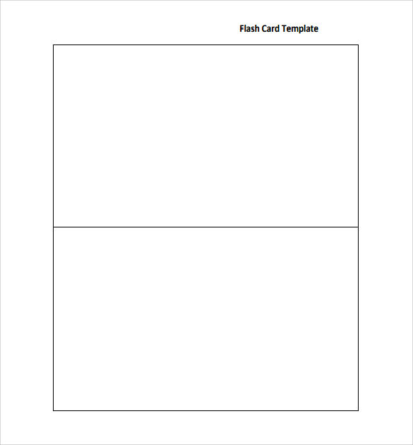 Flash Card Template   12  Download Documents In PDF Sample Templates p4ca03uz