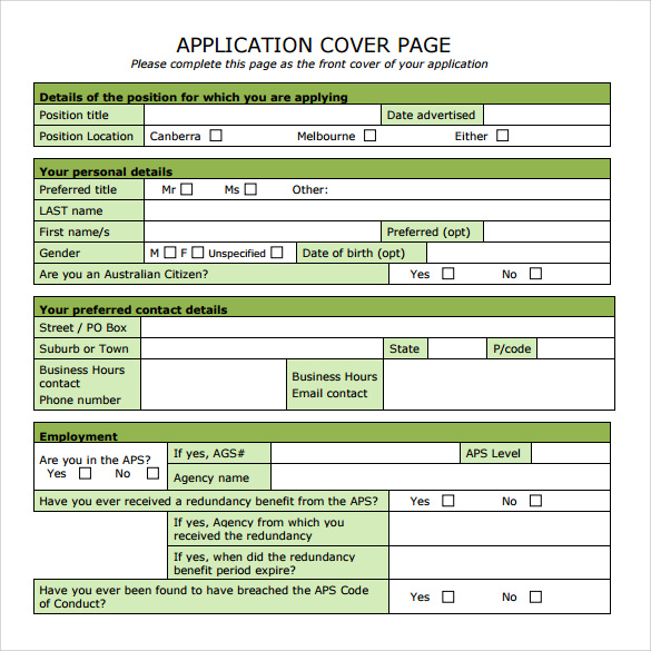 15 sample cover page templates to free download