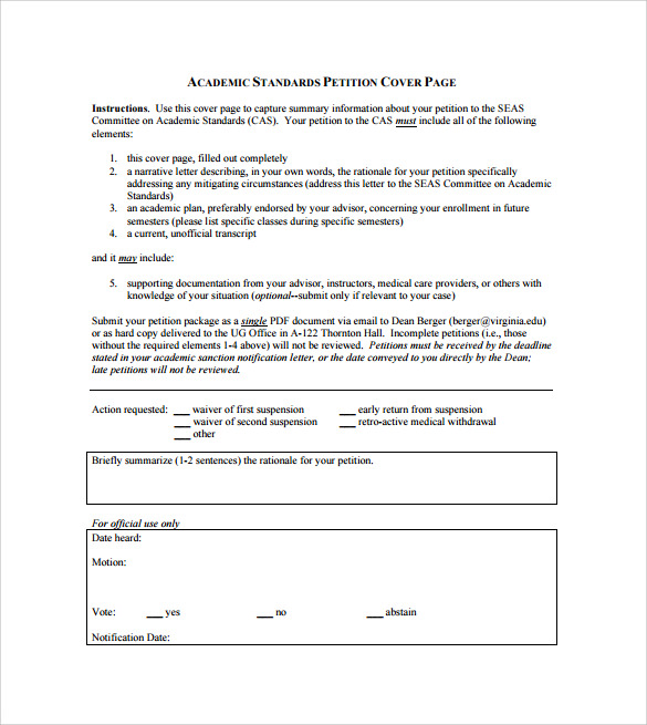 example of cover page template