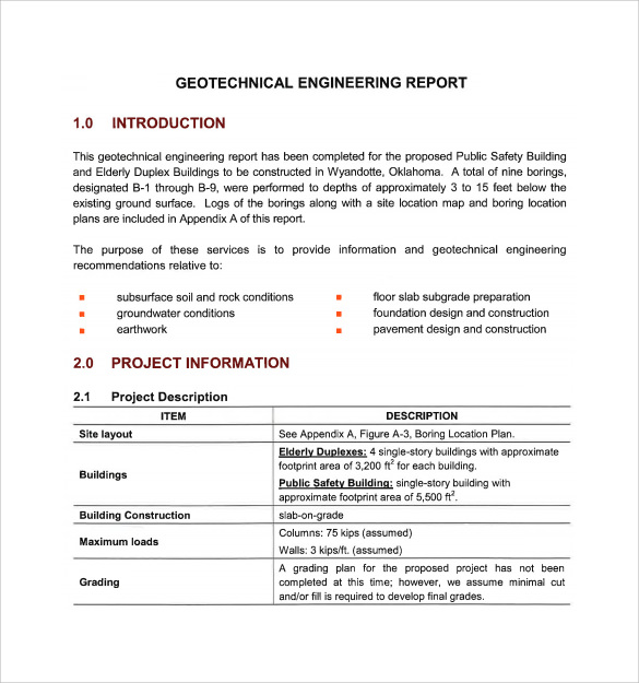16 sample engineering reports pdf word pages sample templates