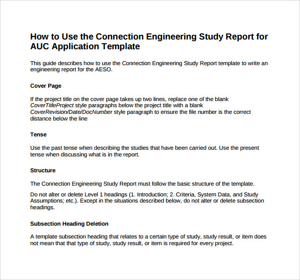 Sample Engineering Report 14 Documents in PDF – Formal Report Template