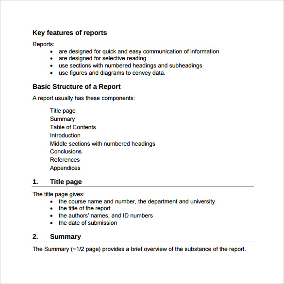Sample Engineering Report 14 Documents in PDF – A Report Template