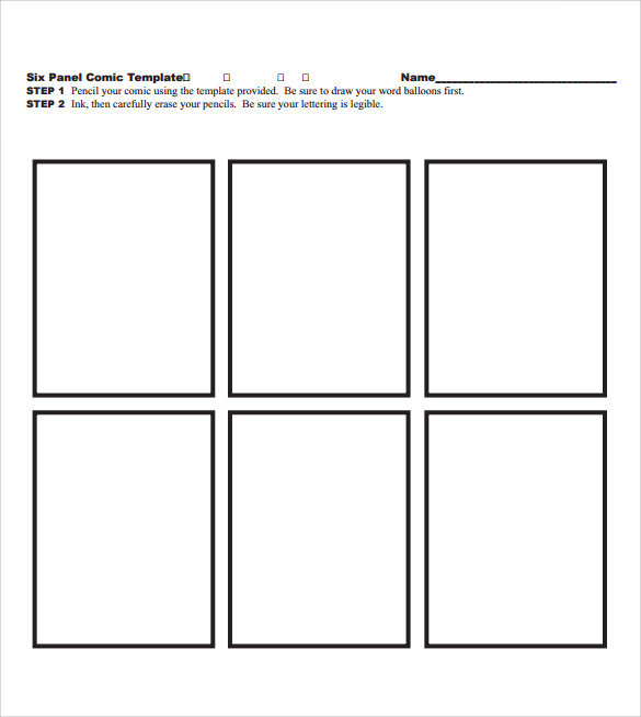 comic template 10 download documents in pdf psd sample