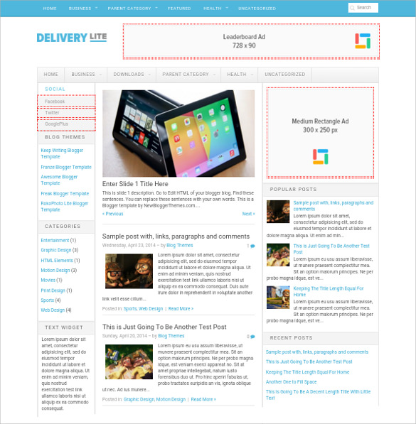 16  Free Blog Themes   Templates Sample Templates hlQTXKhP