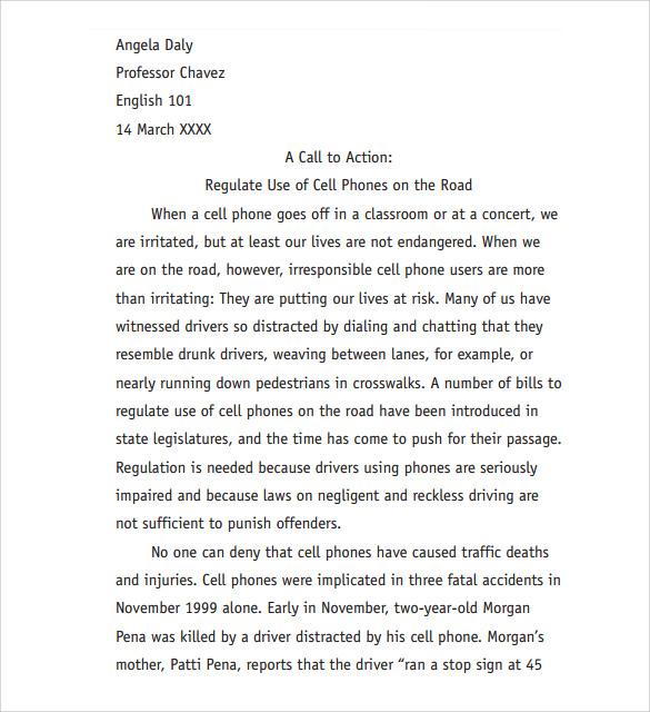 Diagnostic essay structure